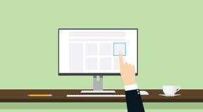 Välj produktonline-kommershanden - välj rätten och bästa royaltyfri illustrationer