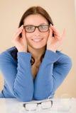 välj recept för beställareexponeringsglasoptiker Arkivbild