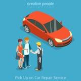 Välj upp bilen från begrepp för reparationsmedelservice S Royaltyfri Bild