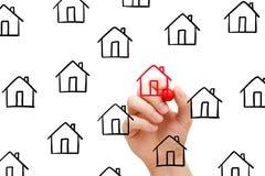 Välja det bästa Real Estate begreppet Royaltyfri Fotografi