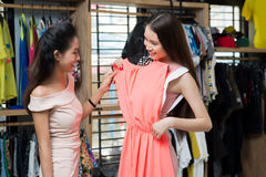 Välja klänningen arkivbilder