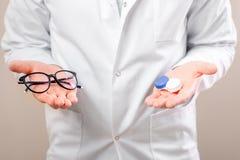 Välja mellan linser och exponeringsglas royaltyfri foto