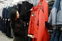 Välja ny kläder på shanghai tiokamp shoppa Royaltyfria Foton