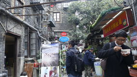 Välkänd turist- destination, Tian Zi Fang Street, Shanghai Arkivbilder
