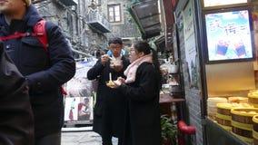 Välkänd turist- destination, Tian Zi Fang Street, Shanghai Fotografering för Bildbyråer