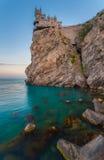 Välkända slottsvalans rede nära Yalta Royaltyfri Foto