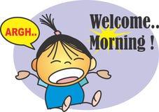 Välkommen morgon Arkivbild