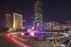 Välkommen staty i centrum av Jakarta - huvudstaden av Indonesien Royaltyfri Bild