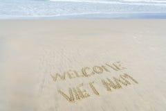Välkommen Vietnam strand Royaltyfri Fotografi