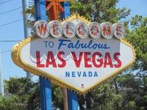 Välkommet Las Vegas tecken royaltyfri foto
