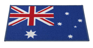 Välkommet mattt för australisk flagga Royaltyfri Foto