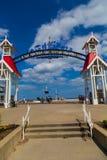 Välkommet tecken på havstaden MDaryland Royaltyfri Bild