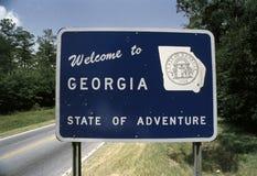 Välkomna till Georgia sigb royaltyfria bilder