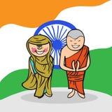 Välkomna till Indien folk Royaltyfri Foto
