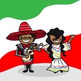 Välkomna till Mexico folk Royaltyfri Bild