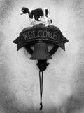 Välkomnande! arkivbilder