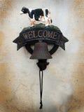 Välkomnande! royaltyfri fotografi