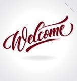 """""""välkomnande"""" handbokstäver stock illustrationer"""