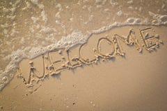 Välkomnande textur på strandsanden Royaltyfri Bild