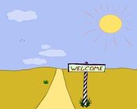 Välkomnande till öknen! Royaltyfri Fotografi