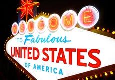 Välkomnande till Amerikas förenta stater Fotografering för Bildbyråer