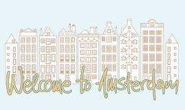 Välkomnande till Amsterdam Arkivbilder