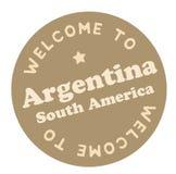 Välkomnande till Argentina Sydamerika vektor illustrationer