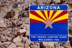 Välkomnande till Arizona Royaltyfri Fotografi
