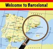 Välkomnande till Barcelona stock illustrationer