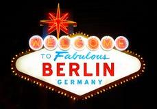 Välkomnande till Berlin Royaltyfria Foton