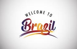 Välkomnande till Brasilien stock illustrationer