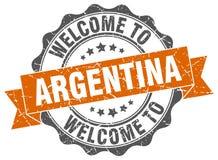 Välkomnande till den Argentina skyddsremsan royaltyfri illustrationer