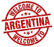 Välkomnande till den Argentina stämpeln stock illustrationer