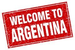 Välkomnande till den Argentina stämpeln royaltyfri illustrationer
