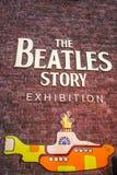 Välkomnande till den Beatles berättelsen royaltyfri bild