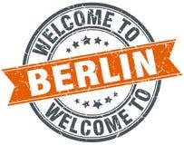 Välkomnande till den Berlin stämpeln stock illustrationer