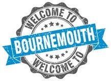 Välkomnande till den Bournemouth skyddsremsan royaltyfri illustrationer