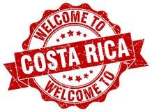 Välkomnande till den Costa Rica skyddsremsan stock illustrationer