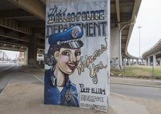 Välkomnande till den djupa Ellumen Art Park, djupa Ellum, Dallas, Texas Royaltyfria Foton