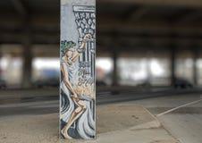 Välkomnande till den djupa Ellumen Art Park, djupa Ellum, Dallas, Texas Arkivfoton
