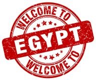 välkomnande till den Egypten stämpeln stock illustrationer