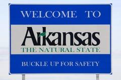 Välkomnande till det Arkansas tecknet Arkivfoton