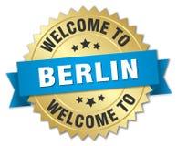 välkomnande till det Berlin emblemet vektor illustrationer