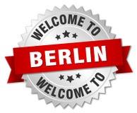 välkomnande till det Berlin emblemet stock illustrationer