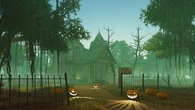 Välkomnande till det läskiga spökade huset 4K