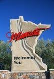 Välkomnande till det Minnesota tecknet royaltyfria bilder
