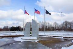 Välkomnande till det Ohio tecknet, Ohio besökaremitt arkivfoto