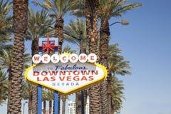 Välkomnande till det sagolika Las Vegas tecknet Royaltyfri Fotografi
