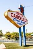Välkomnande till det sagolika Las Vegas tecknet, Las Vegas, Nevada, USA Royaltyfri Foto