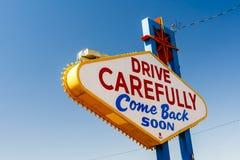 Välkomnande till det sagolika Las Vegas tecknet, Las Vegas, Nevada, USA Royaltyfri Bild